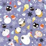 Textura de la nieve con los buhos libre illustration