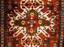 Textura de la opinión del modelo de la manta en meseum de la alfombra imagen de archivo