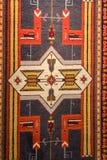 Textura de la opinión del modelo de la manta en meseum de la alfombra foto de archivo