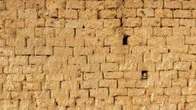 Textura de la pared de Adobe del fango Imágenes de archivo libres de regalías