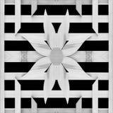 Textura de la pared de la flor del listón aislada en fondo negro Fotografía de archivo