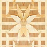 Textura de la pared de la flor del listón en el fondo de madera Imagenes de archivo