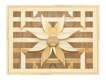 Textura de la pared de la flor del listón en la madera Fotografía de archivo