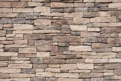 Textura de la pared de piedra de Brown Imágenes de archivo libres de regalías