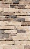 Textura de la pared de piedra de Brown Fotos de archivo