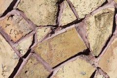 Textura de la pared de piedra del mosaico Imagenes de archivo
