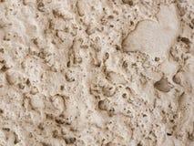 Textura de la pared de piedra del travertino Imagenes de archivo