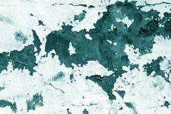 Textura de la pared del cemento de Grugy en tono ciánico imagen de archivo libre de regalías