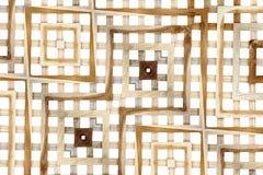 Textura de la pared del listón en blanco Fotografía de archivo libre de regalías