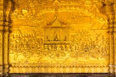 Textura de la pared del templo, Luangprabang, Laos Foto de archivo