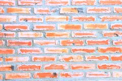 textura de la pared de ladrillo Pared de ladrillo anaranjada de la casa para el fondo o la textura foto de archivo libre de regalías
