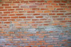 textura de la pared de ladrillo Pared de ladrillo anaranjada de la casa para el fondo o la textura fotos de archivo