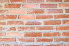textura de la pared de ladrillo Pared de ladrillo anaranjada de la casa para el fondo o la textura imágenes de archivo libres de regalías