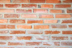 textura de la pared de ladrillo Pared de ladrillo anaranjada de la casa para el fondo o la textura fotografía de archivo libre de regalías