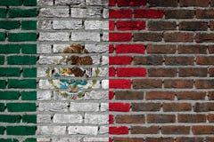 Textura de la pared de ladrillo - bandera de México Fotos de archivo libres de regalías