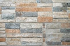Textura de la pared de ladrillo del color de tierra Fotografía de archivo