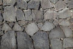Textura de la pared negra de la roca volcánica de Lanzarote, canario I Fotografía de archivo