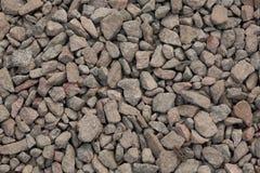 Textura de la pequeña piedra machacada del granito Imagen de archivo