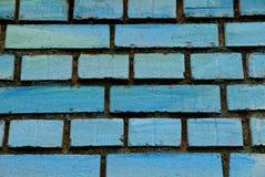 Textura de la piedra azul de ladrillos en la pared de la casa Foto de archivo libre de regalías