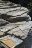 Textura de la piedra de la pizarra en los catedrales Ribadeo de los las de Playa fotografía de archivo libre de regalías