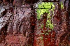 Textura de la piedra de la pizarra en los catedrales Ribadeo de los las de Playa foto de archivo libre de regalías
