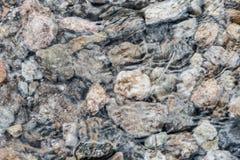Textura de la piedra y del agua Río, extracto imágenes de archivo libres de regalías