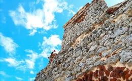 Textura de la piedra y del cielo fotos de archivo
