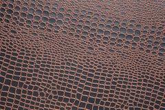 Textura de la piel artificial del cocodrilo Imágenes de archivo libres de regalías