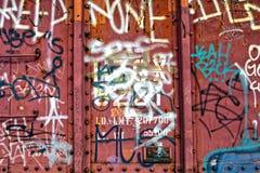Textura de la pintada del tren Fotos de archivo libres de regalías