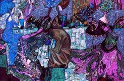 Textura de la pintura al óleo Roman Nogin autor charla del ` s de las mujeres del ` de la serie ` la versión del ` s del autor de imágenes de archivo libres de regalías