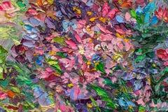 Textura de la pintura al óleo todavía que pinta la vida, arte del impresionismo Foto de archivo libre de regalías