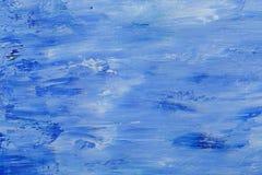 Textura de la pintura de aceite, fondo azul abstracto Imagenes de archivo
