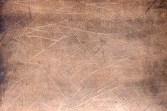 Textura de la placa de cobre, superficie de metal anaranjada cepillada foto de archivo libre de regalías