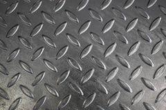 Textura de la placa del diamante del acero inconsútil Foto de archivo libre de regalías