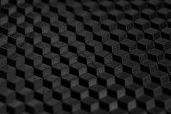 Textura de la rejilla geométrica negra abstracta Imagen de archivo