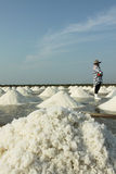 Textura de la sal con el granjero Imagen de archivo libre de regalías