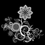 Textura de la silueta de la flor ilustración del vector