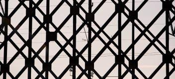 Textura de la silueta del puente fotos de archivo