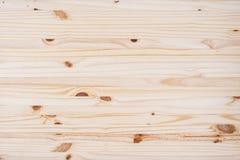 Textura de la sobremesa de la opinión superior o del fondo de madera de pino Imágenes de archivo libres de regalías