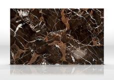 Textura de la teja del mármol de Brown Fotos de archivo libres de regalías