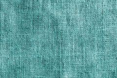 Textura de la tela de algodón en color ciánico imagen de archivo libre de regalías