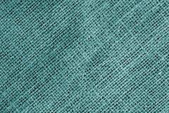 Textura de la tela de algodón en color ciánico imagenes de archivo