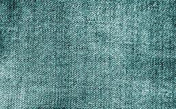 Textura de la tela de algodón en color ciánico fotos de archivo