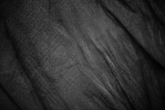 Textura de la tela arrugada gris oscuro Foto de archivo libre de regalías