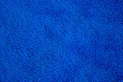 Textura de la tela azul mullida suave foto de archivo