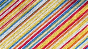 Textura de la tela con la línea colorida de la diagonal del modelo Foto de archivo libre de regalías
