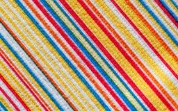 Textura de la tela con la línea colorida de la diagonal del modelo Foto de archivo