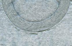 Textura de la tela de algodón - gris con el cuello Fotos de archivo libres de regalías