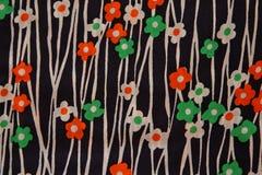 Textura de la tela de la flor Fotos de archivo libres de regalías