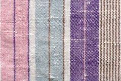 Textura de la tela de la raya Imagen de archivo
